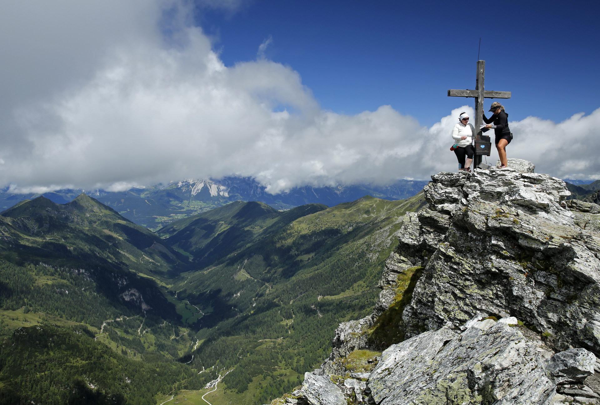 Gipfelbild von der Steirischen Kalkspitze