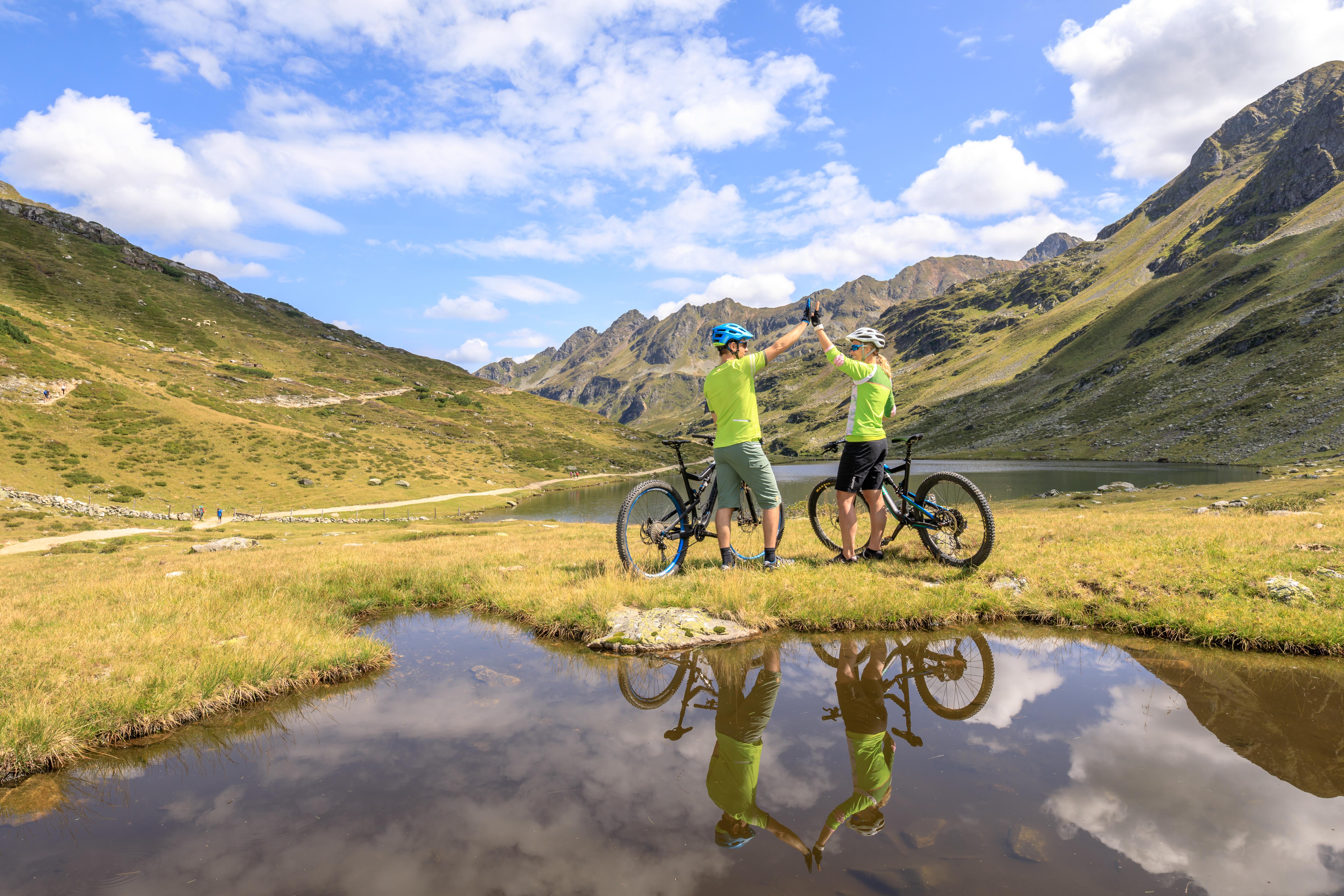 25.08.2017, Schladming, Steiermark, Österreich (Austria): Mountainbike-Shooting mit Sofie und Thomas bei den Giglachseen in den Schladminger Tauern.  Fotocredit: Martin Huber